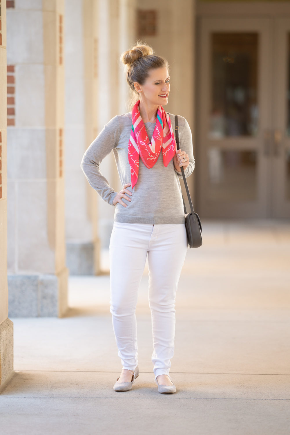 b6df991f2cc9 Petite Fashion and Style Blog | Talbots Lulu DK Scarf | Breast Cancer  Awareness Month