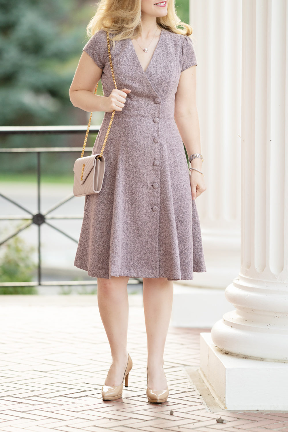 Petite Fashion and Style Blog   Gal Meets Glam Agatha Tweed Dress   Gal Meets Glam Collection   Gal Meets Glam Dresses   Tweed Dress