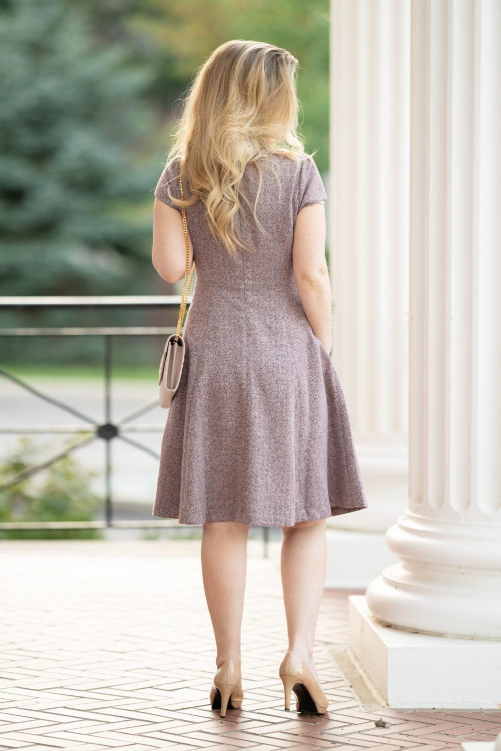 Petite Fashion and Style Blog   Gal Meets Glam Agatha Tweed Dress