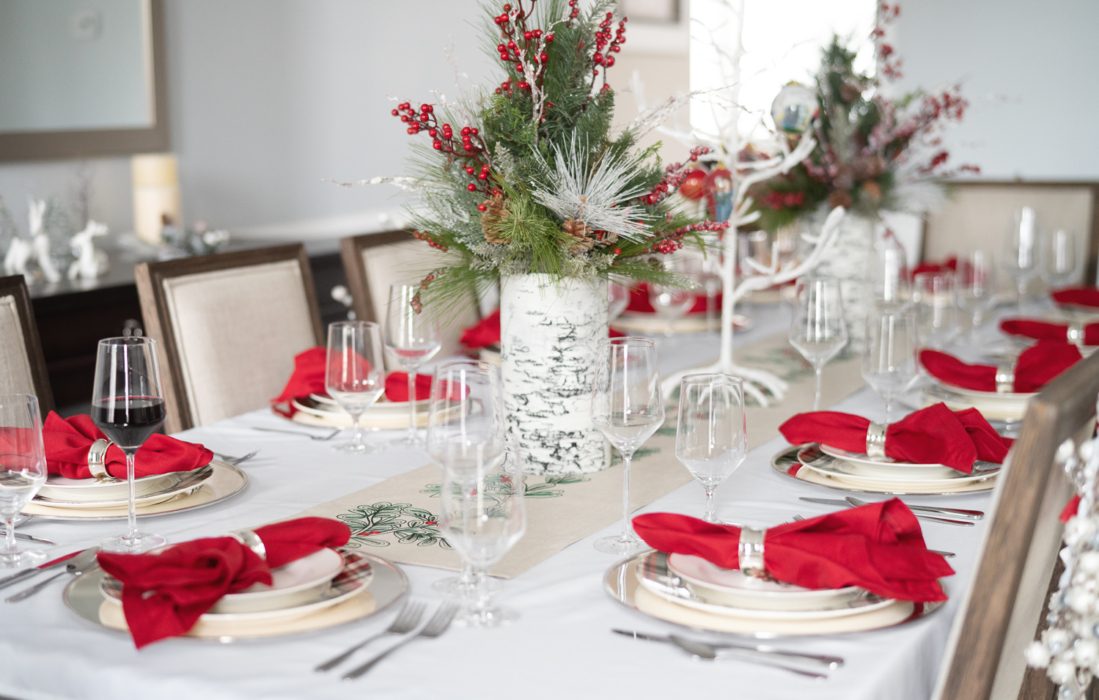 Holiday Tablescape Pottery Barn Christmas Plates