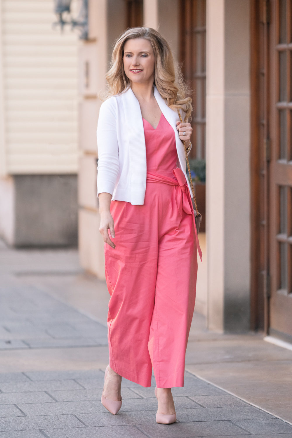 Petite Fashion and Style Blog | J. Crew Pink Jumpsuit | Pink Jumpsuit | Tailor App | Tailor App Review
