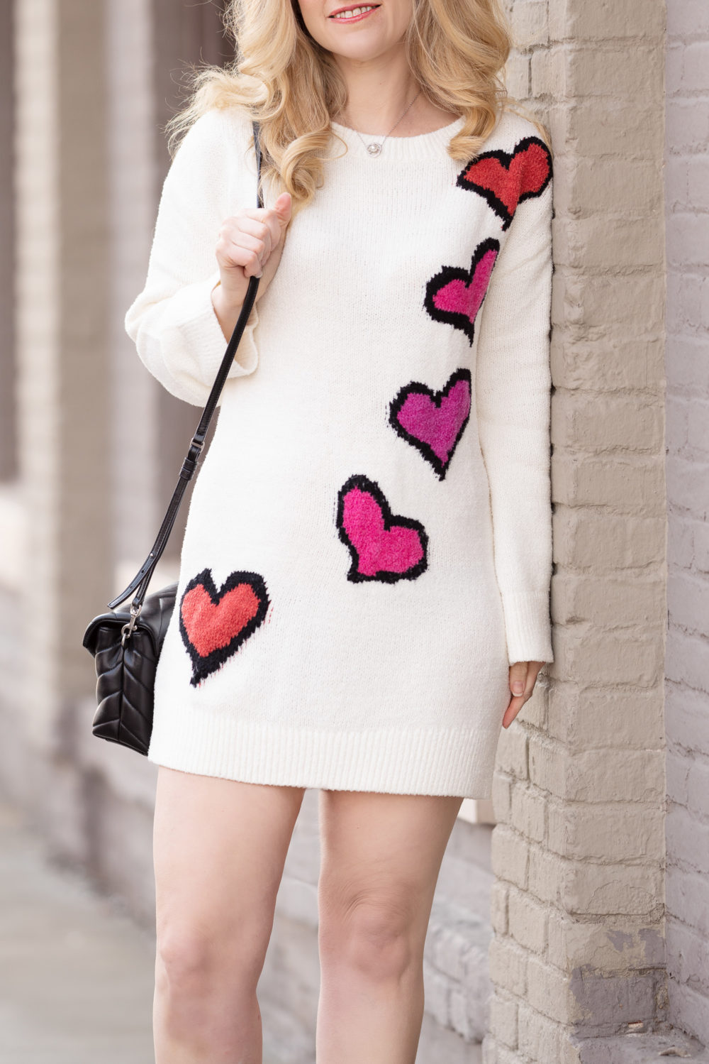 Petite Fashion and Style Blog | Lovers + Friends Heart Stopper Sweater | Tucker + Tate Sweetheart Intarsia Sweater | Galentine's Day Idea for Kids