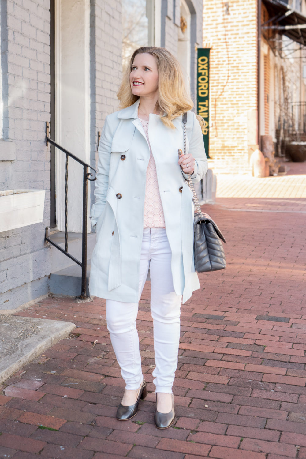 Petite Fashion Blog | Express Trench Coat | Georgetown DC