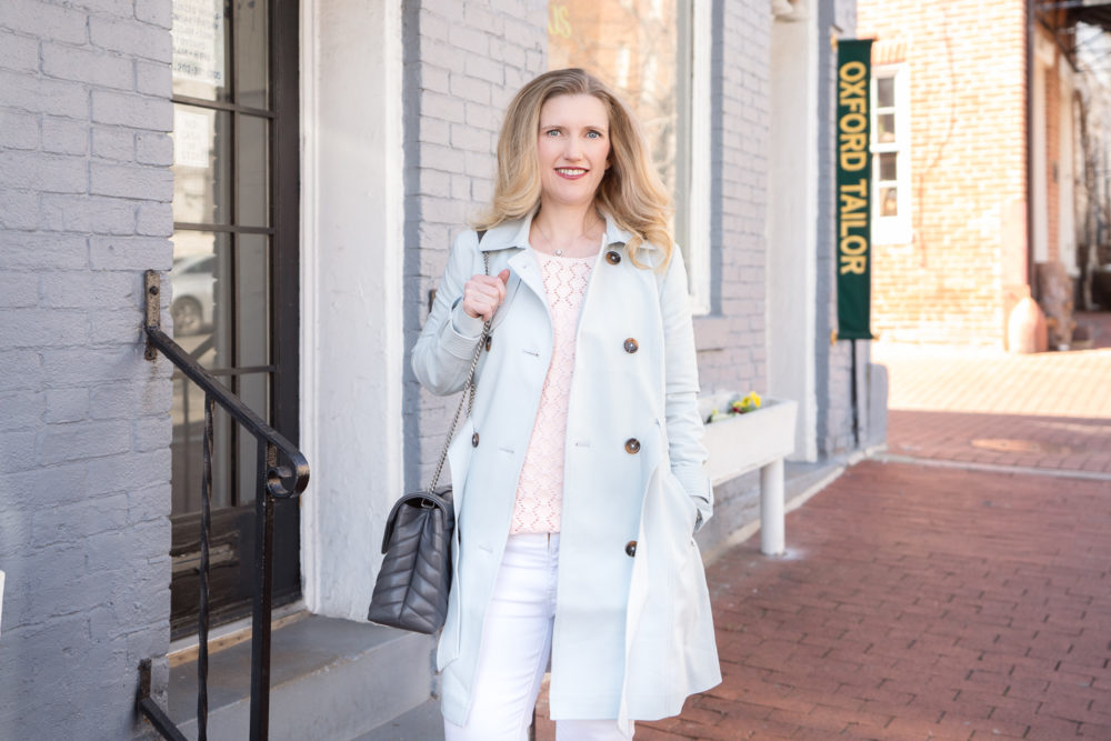 Petite Fashion Blog | Express Trench Coat | Georgetown DC