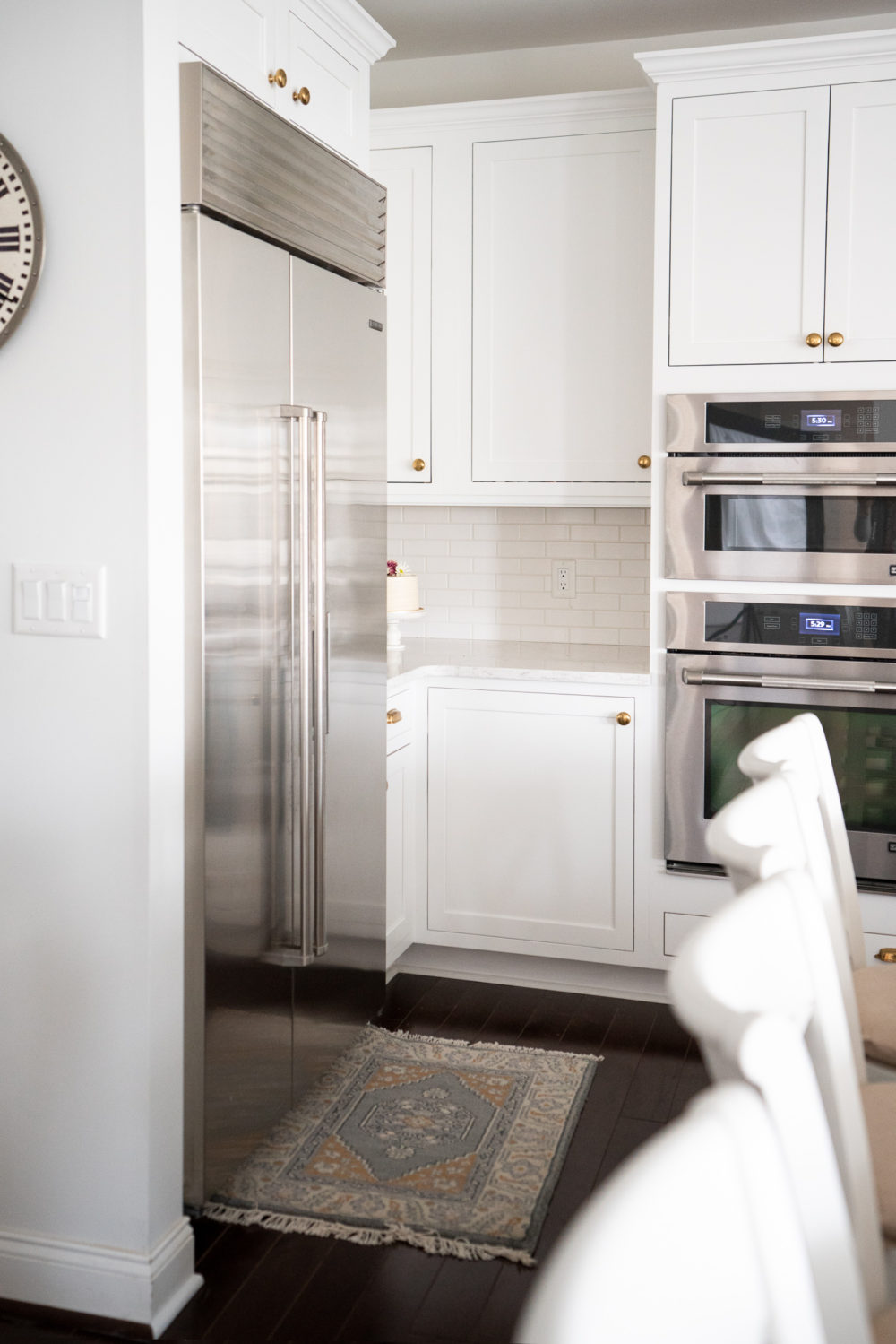 Petite Fashion Blog |White Kitchen | Inset Cabinets | From Overlay to Inset