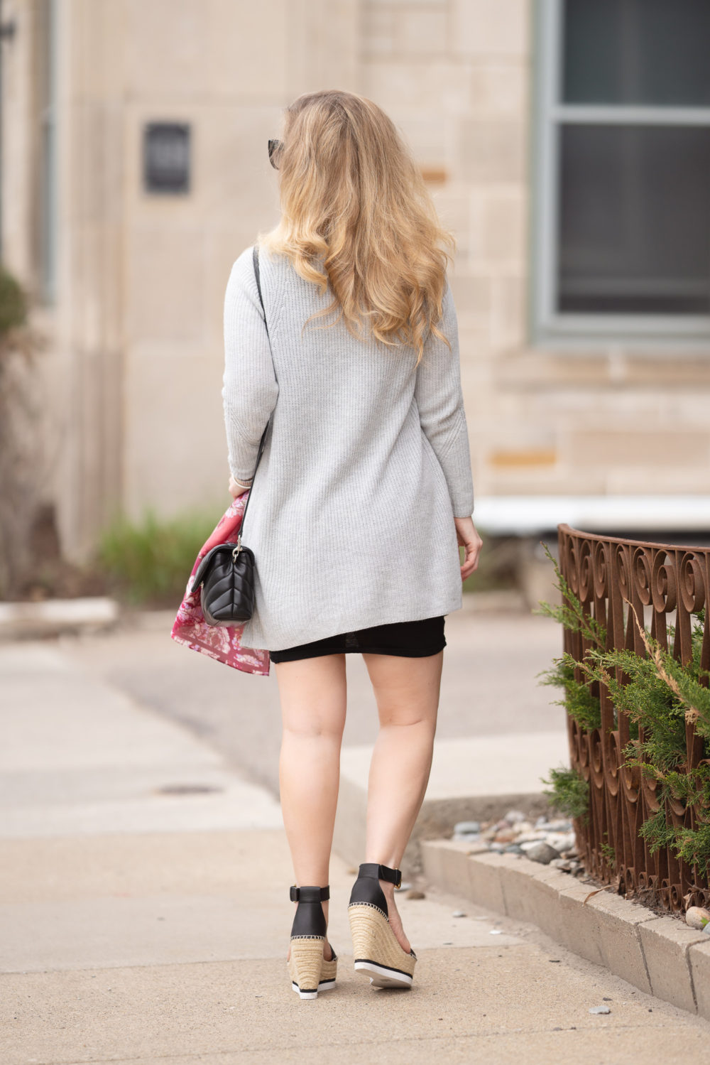Petite Fashion Blog   Leith Ruched Bodycon Tank Dress   See by Chloe Glyn Espadrilles   Nordstrom Half Yearly Sale
