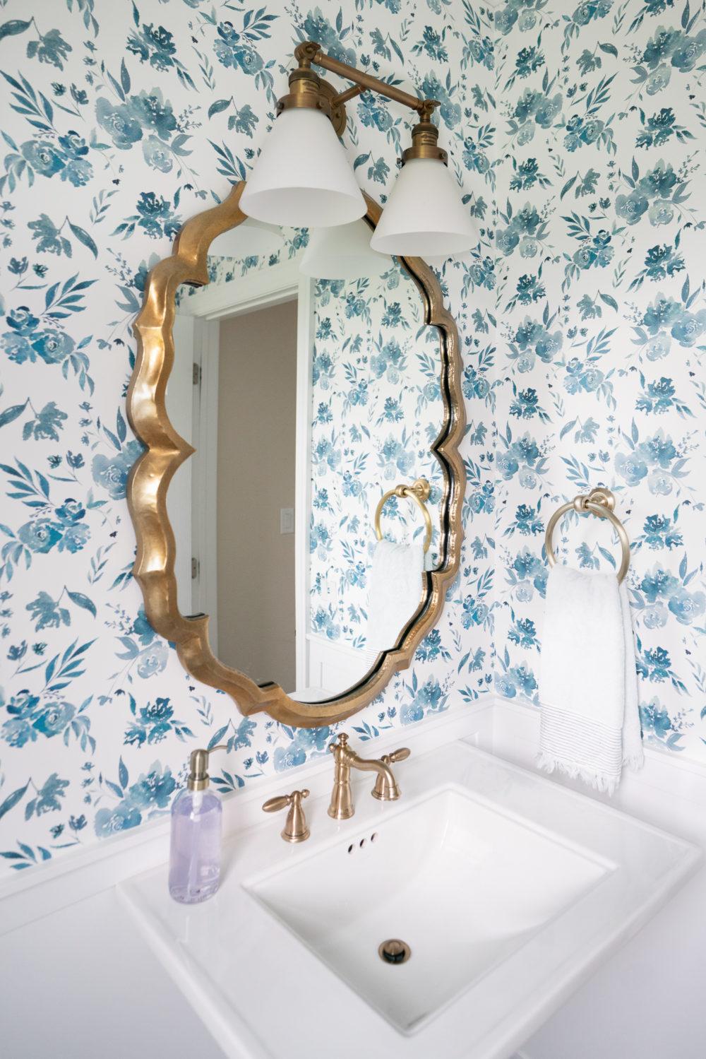 Petite Fashion Blog | Caitlin Wilson Wallpaper | Caitlin Wilson Rugs | Powder Room Ideas | Powder Room Makeover