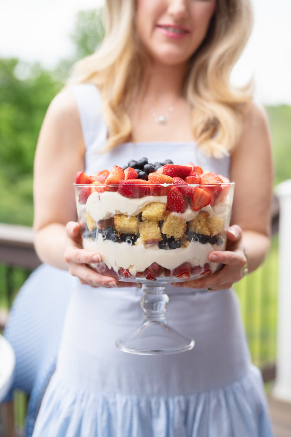 Petite Fashion Blog | Draper James Dress | Berry Trifle Recipe
