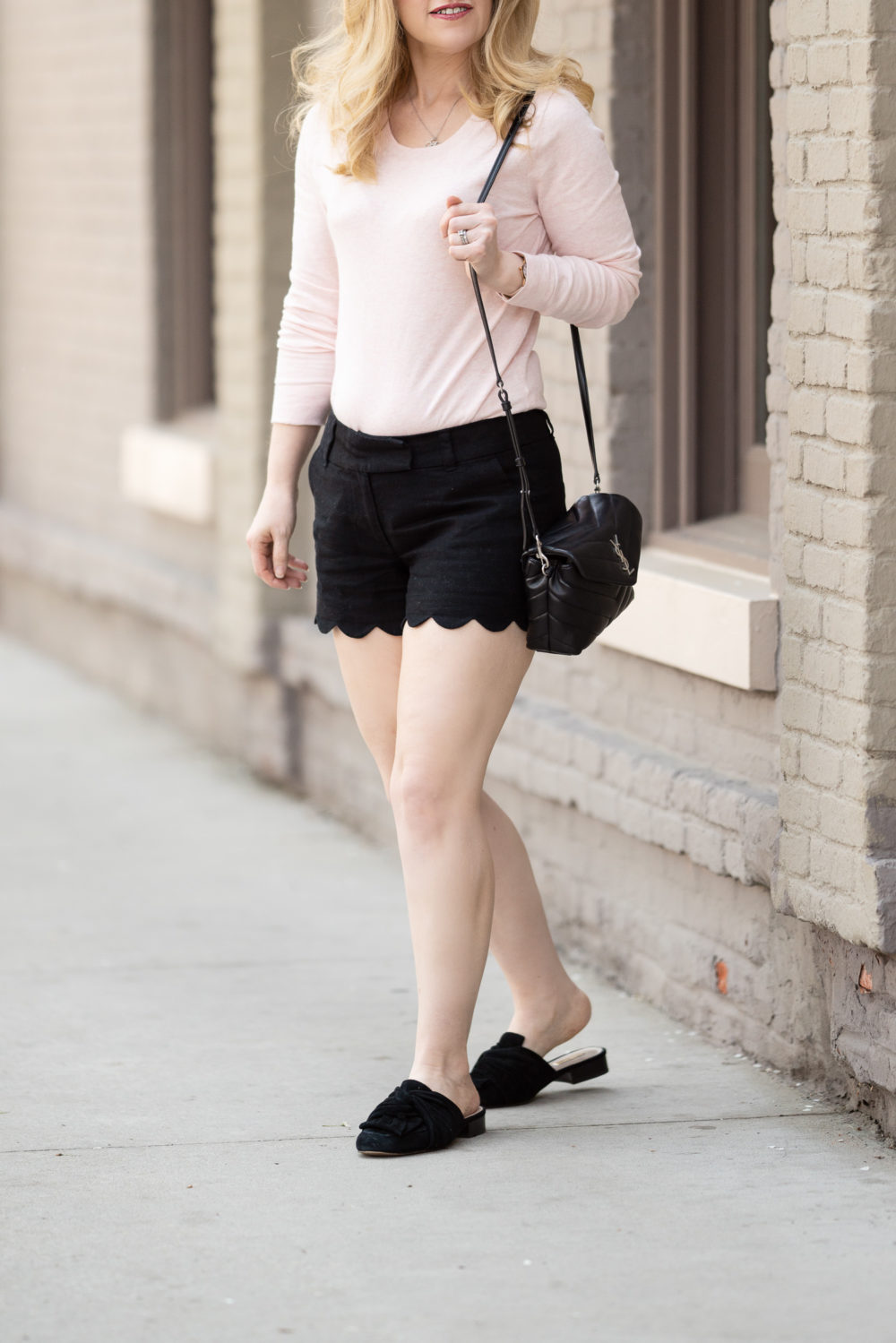 Petite Fashion Blog | J. Crew Factory Scallop Shorts