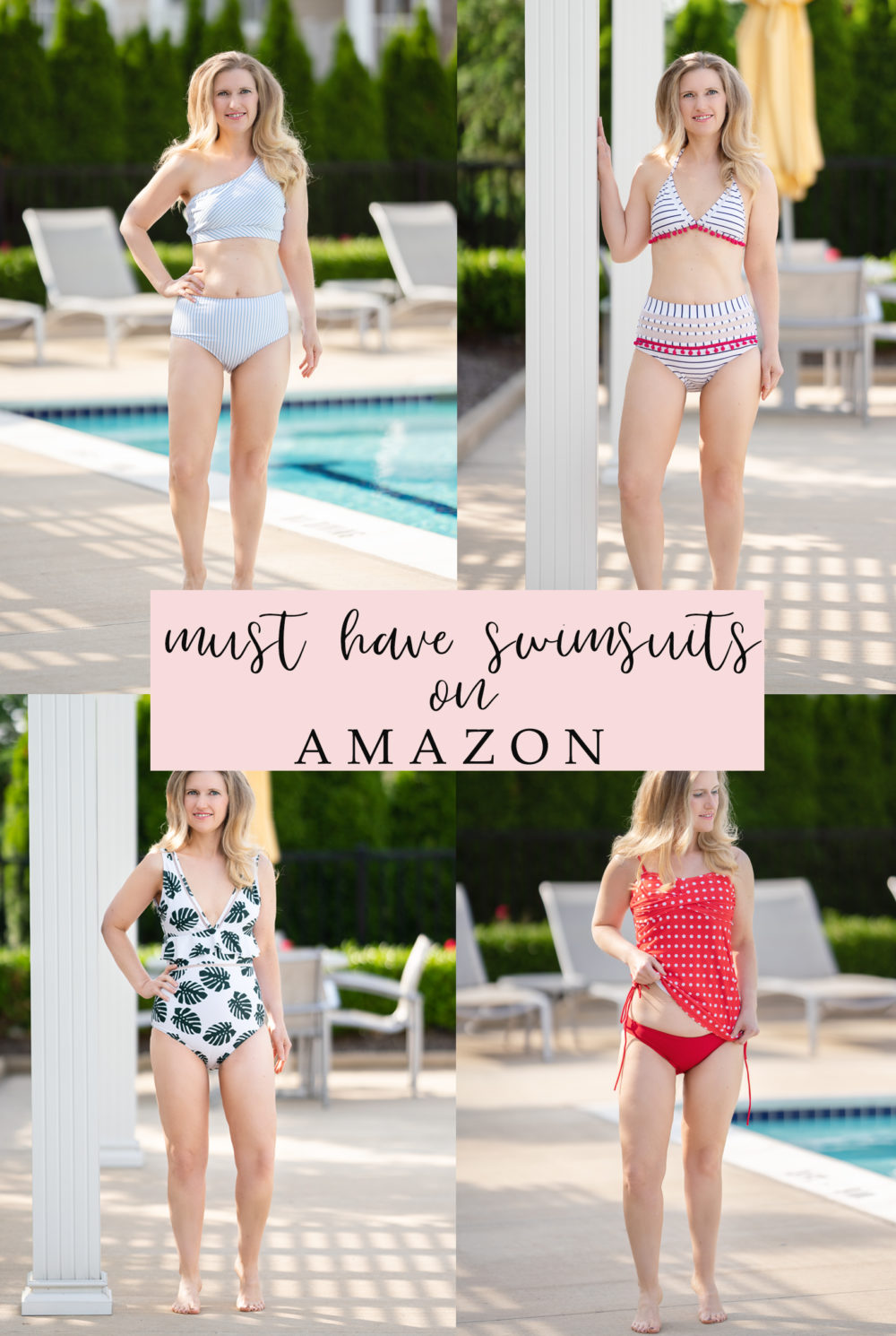 Petite Fashion Blog | Amazon Swimsuits | Amazon Bikinis | Women's Swimsuits | Affordable Swimsuits