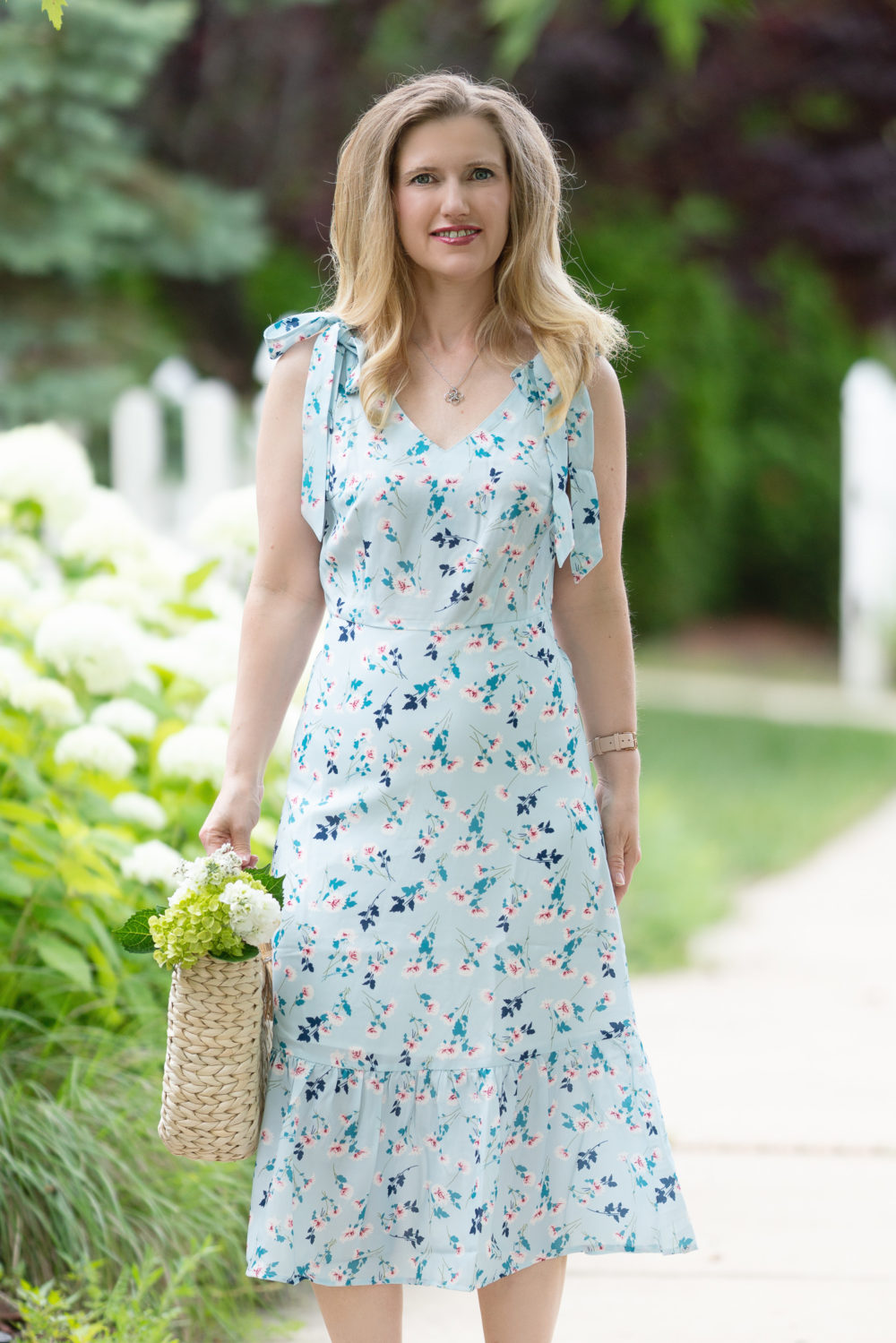 Petite Fashion Blog | Allegra K Floral Midi Dress