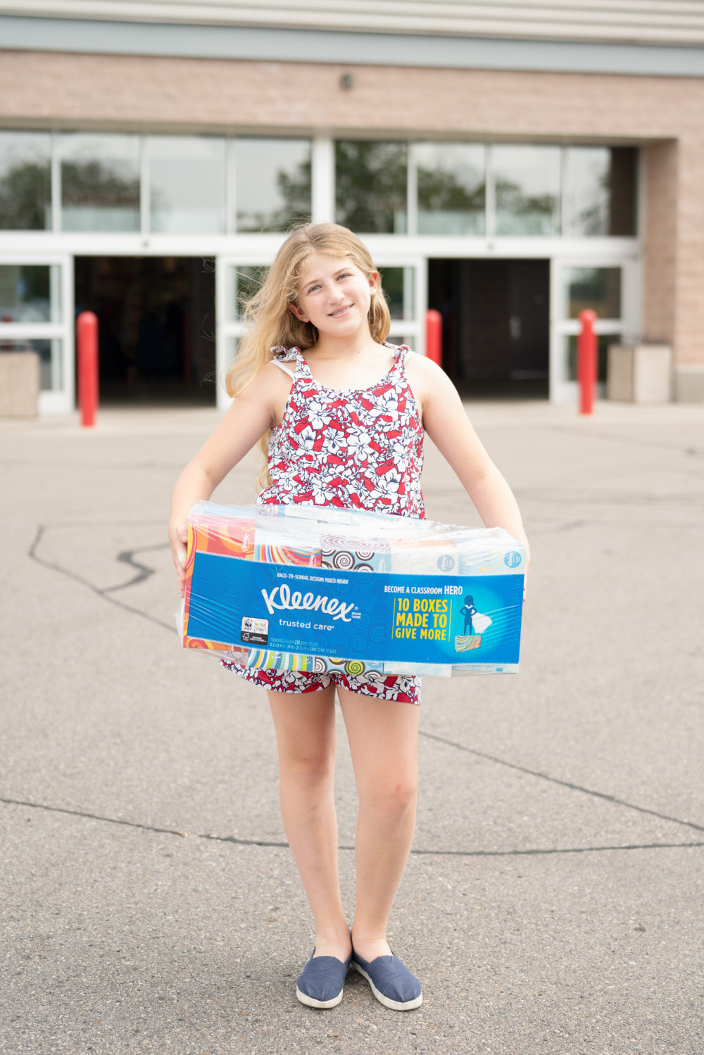 Petite Fashion Blog | Kleenex Tissues at Costco | Be a Classroom Hero