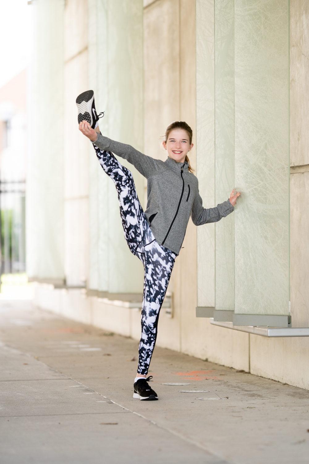 Petite Fashion Blog | Nordstrom Anniversary Sale Athleisurewear | Zella Leggings | Adidas Swift Run Sneakers