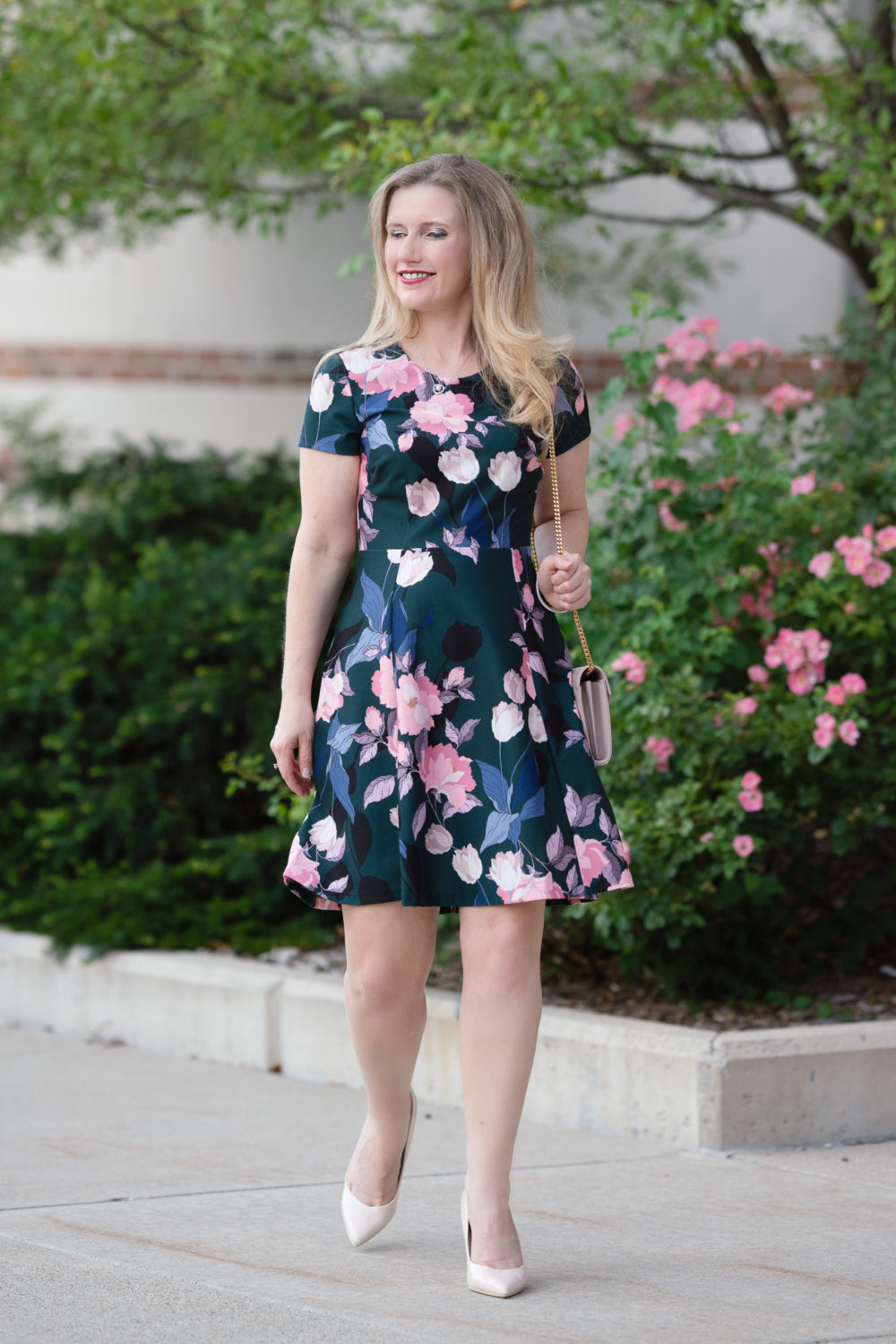 Petite Fashion Blog | Nordstrom Anniversary Sale | Eliza J Fit and Flare Dress
