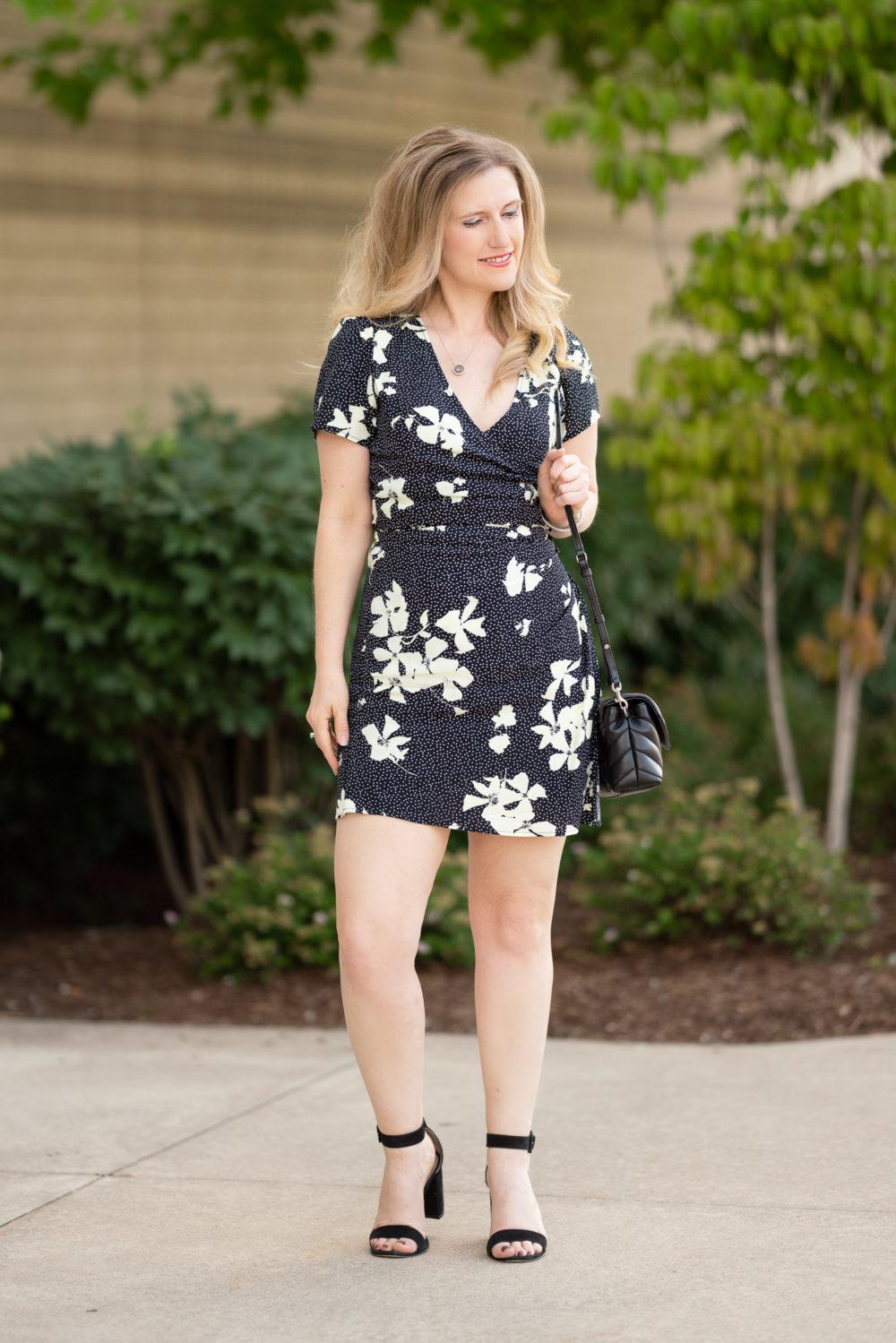 Petite Fashion Blog | Nordstrom Anniversary Sale | Leith Faux Wrap Dress