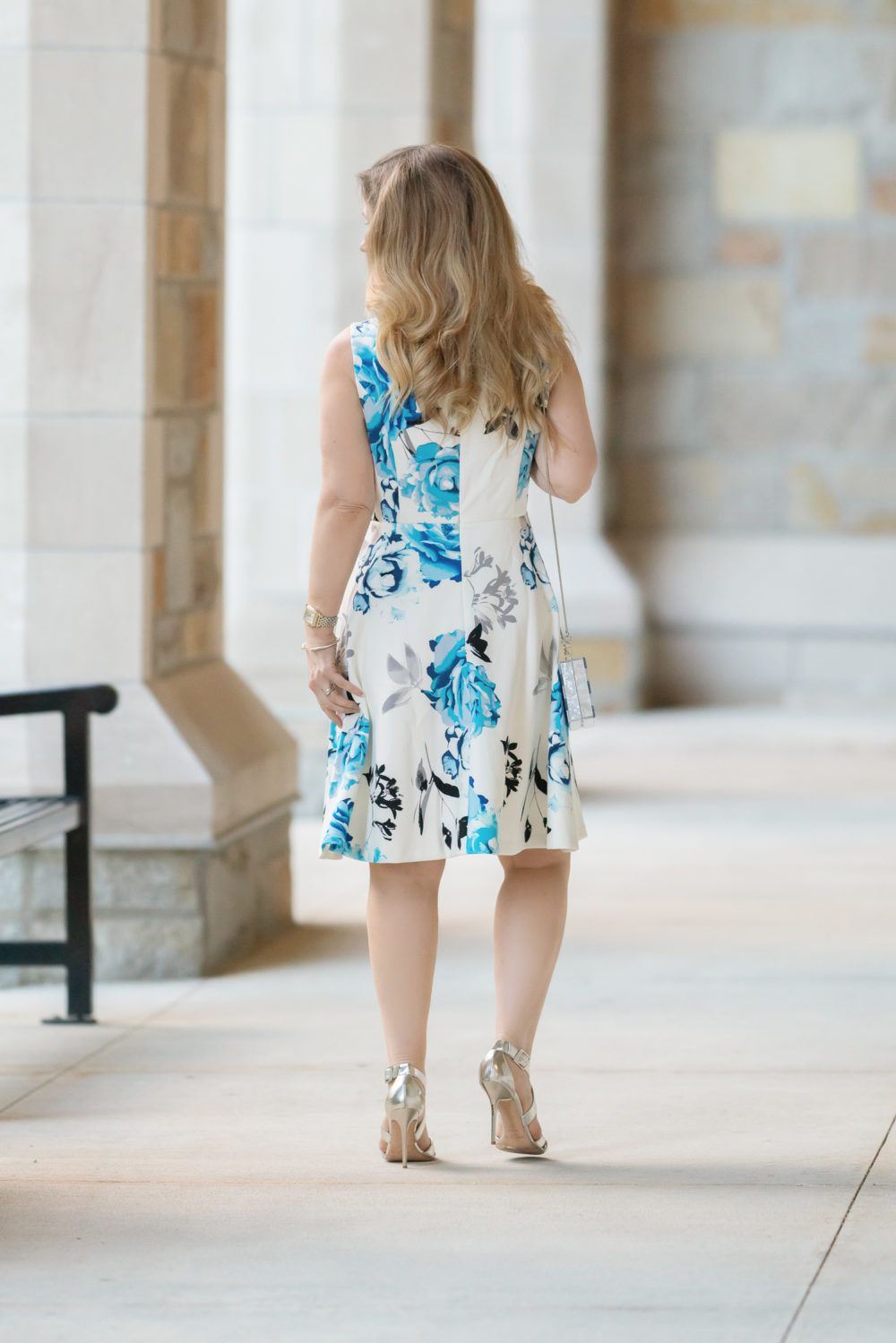 Petite Fashion Blog |WHBM SCUBA KNIT FIT-AND-FLARE DRESS