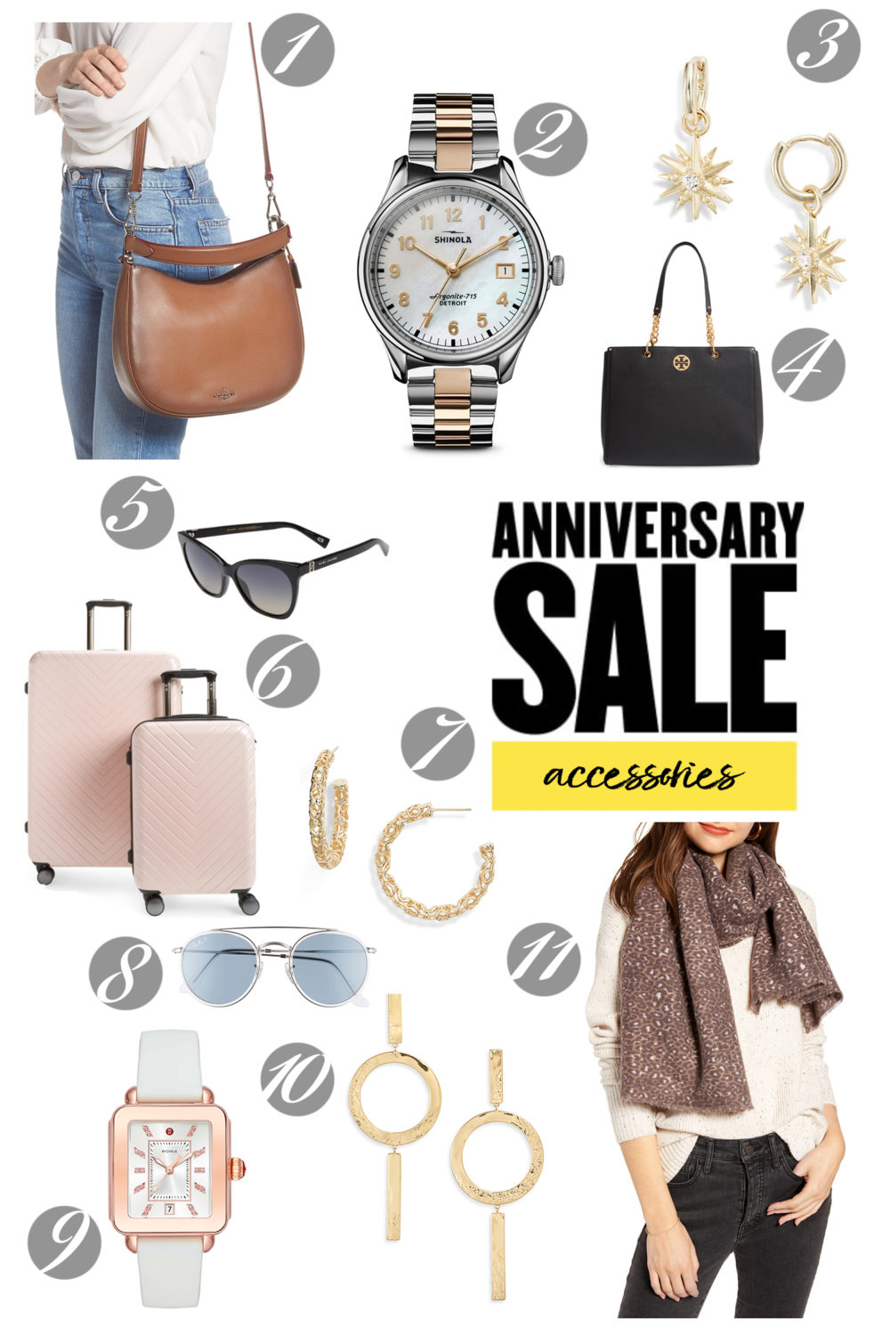 Nordstrom Anniversary Sale | Nordstrom Anniversary Sale Accessories | Shinola Watch | Ray Ban Sunglasses | Michele Watch | Coach Satchel