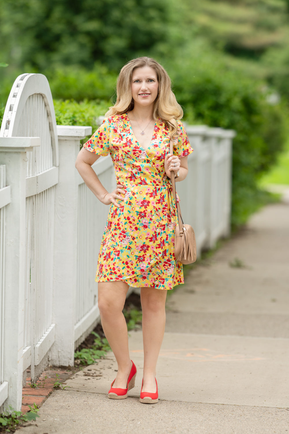 Petite Fashion Blog | J. Crew Factory Wrap Dress