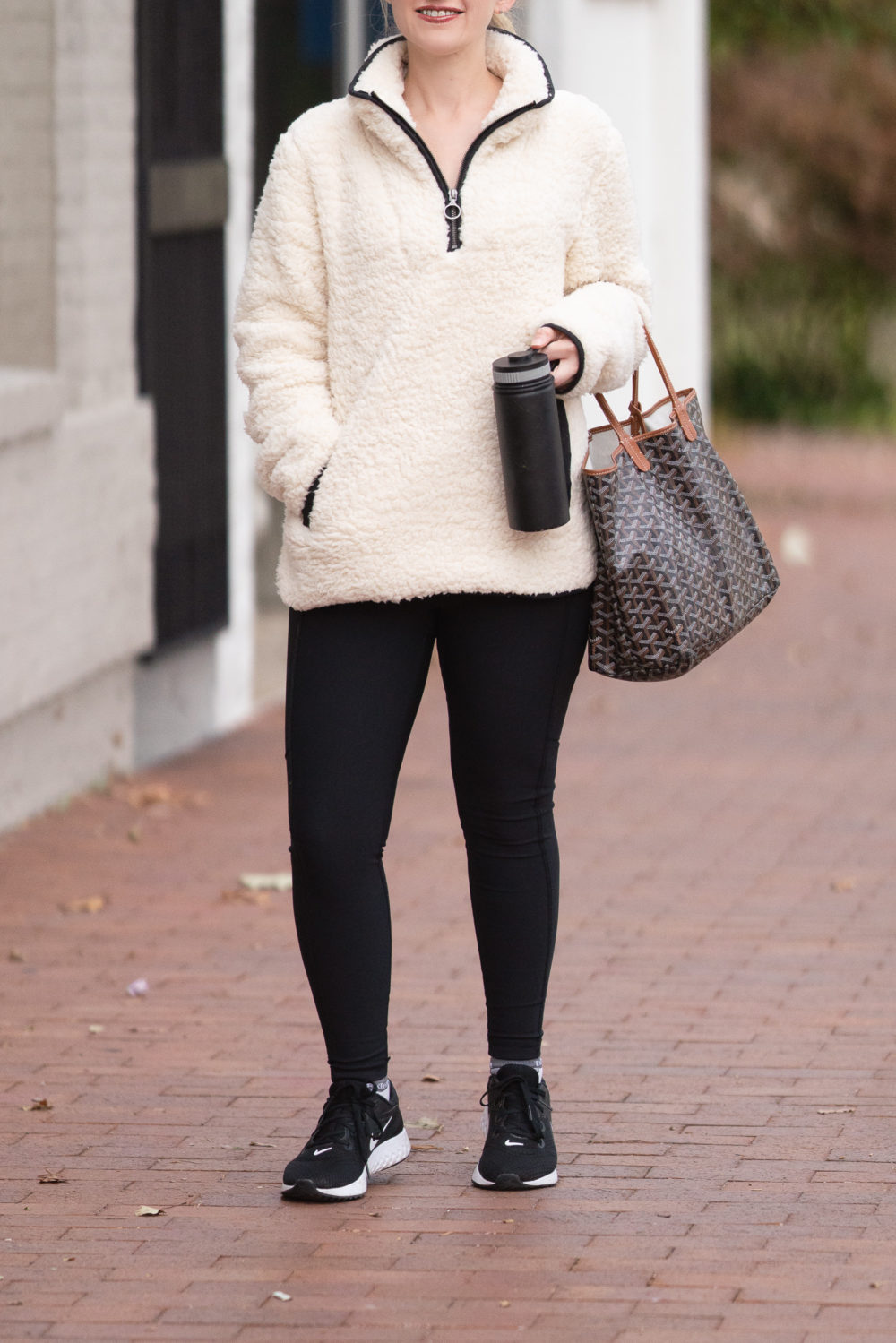 Petite Fashion Blog | Thread and Supply Wubby Fleece Pullover | Zella Live In Leggings | Labor Day Sales