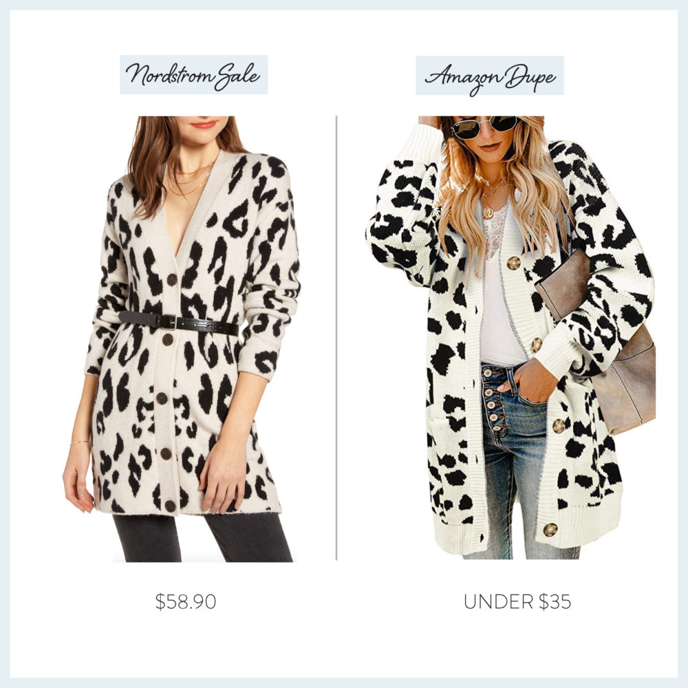 Nordstrom Anniversary Sale 2019 | Amazon Dupe Guide | Something Navy Leopard Sweater