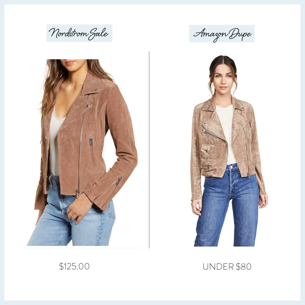 Nordstrom Anniversary Sale 2019 Amazon Dupe Guide | BlankNYC Suede Jacket