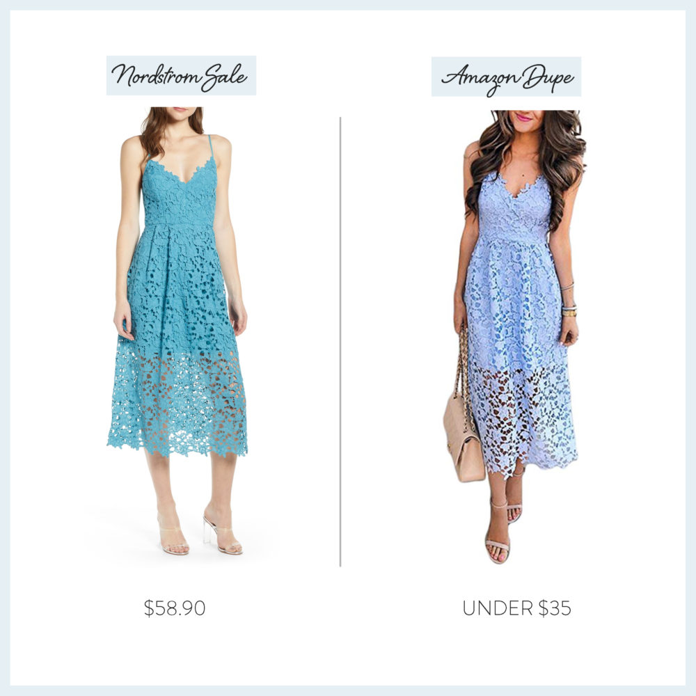 Nordstrom Anniversary Sale 2019 Amazon Dupe Guide | ASRT the Label Lace Midi Dress