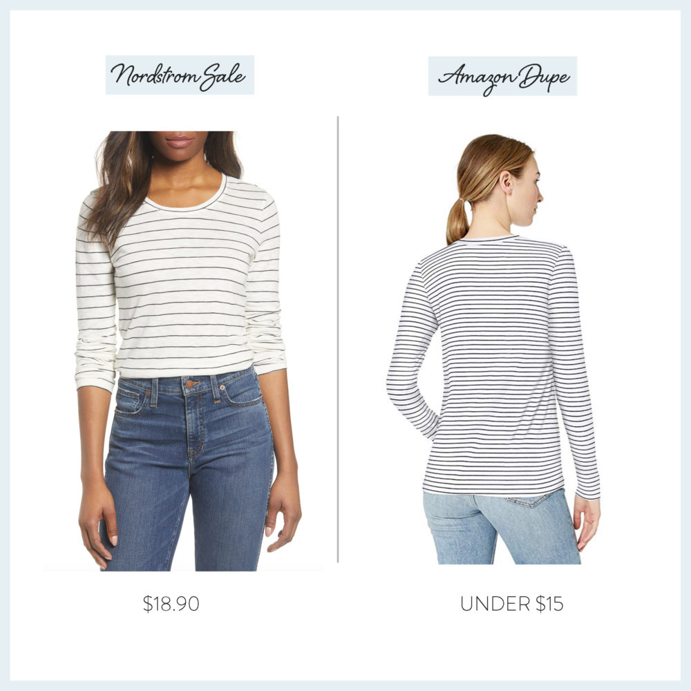 Nordstrom Anniversary Sale 2019 Amazon Dupe Guide | Caslon Stripe Tee
