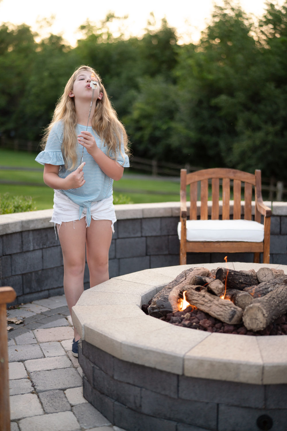 Petite Fashion Blog | S'mores night