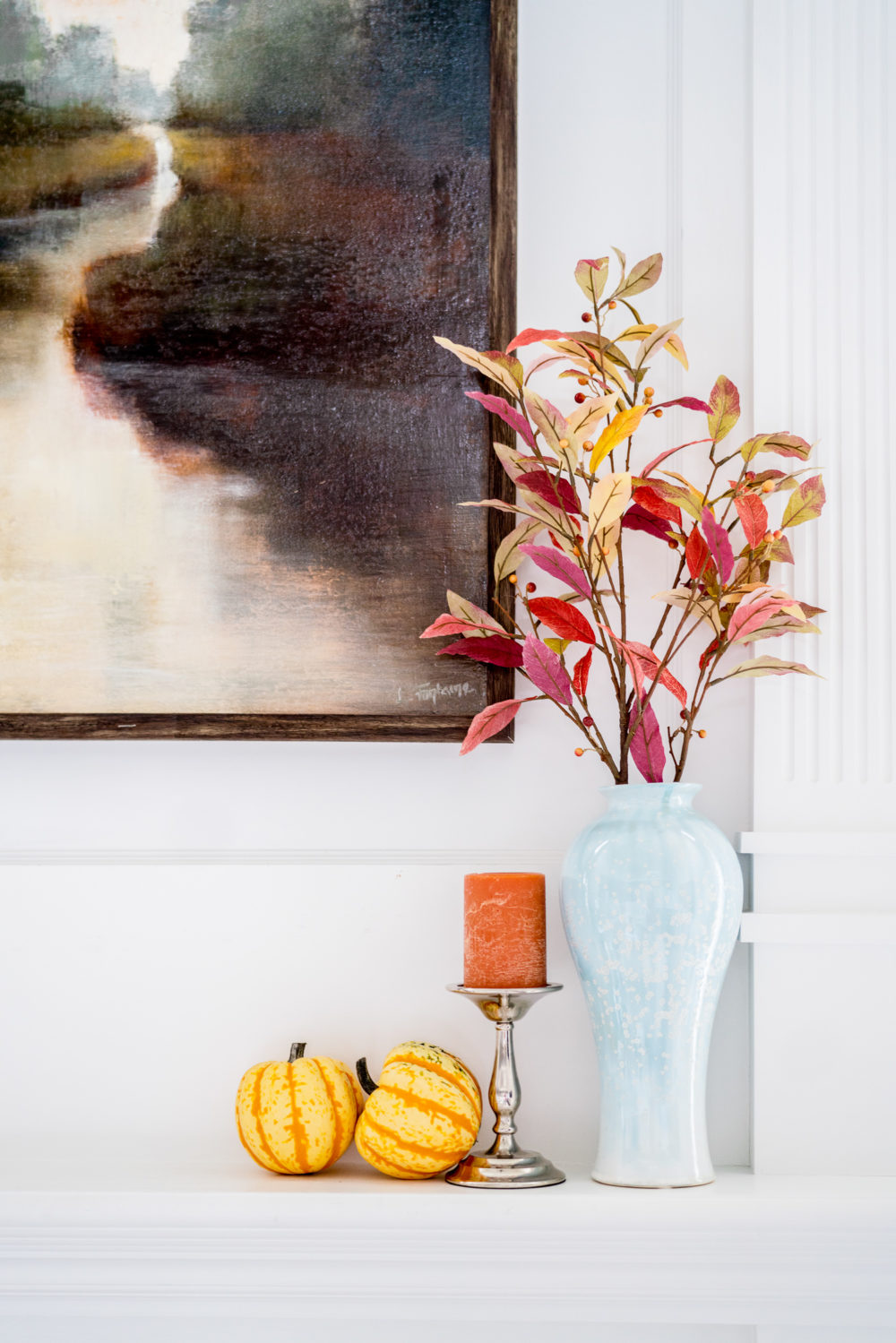 Petite Fashion Blog | Fall Home Decor | Faux Fall Leaves