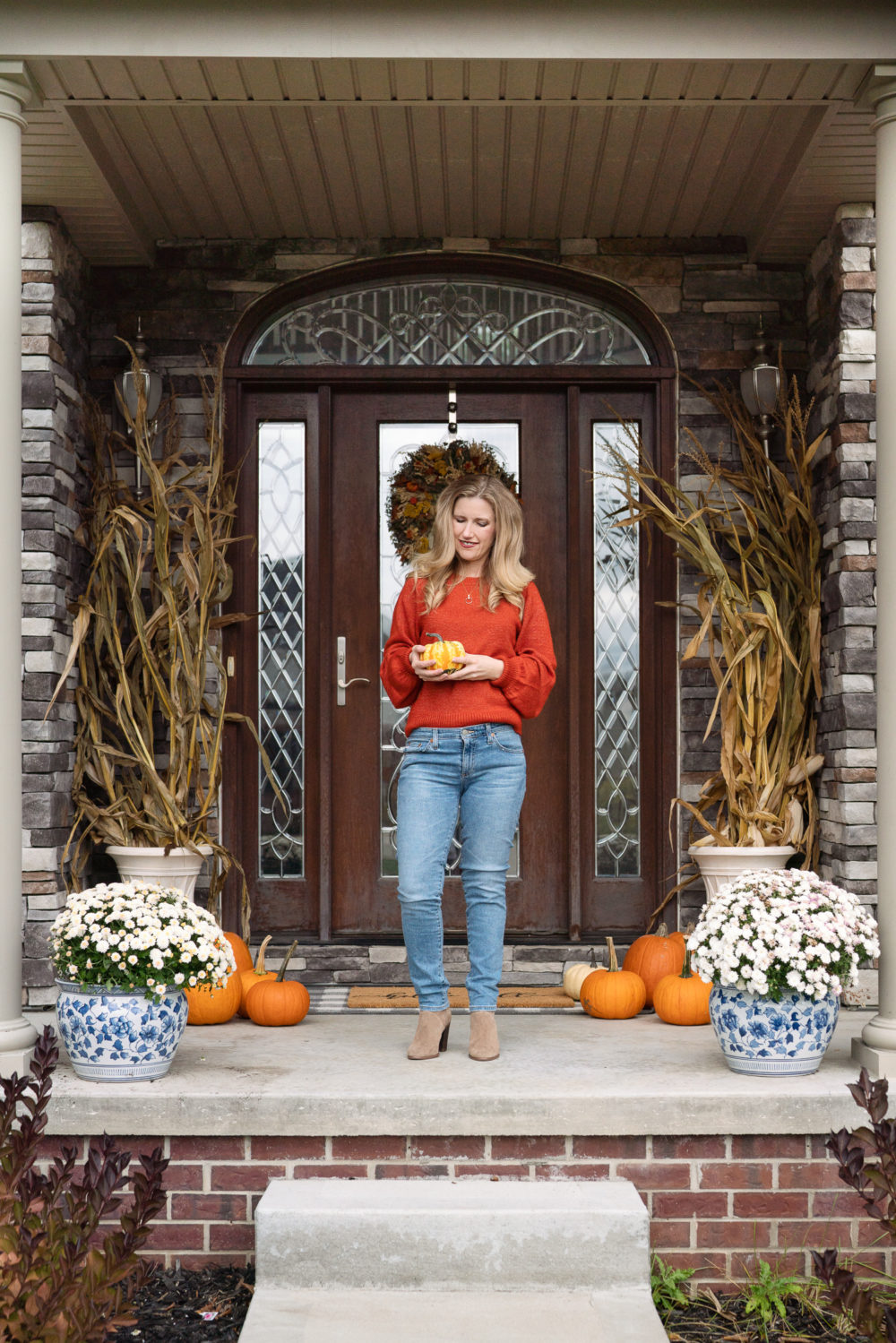 Petite Fashion Blog | Fall Home Decor | Fall Front Porch Inspiration