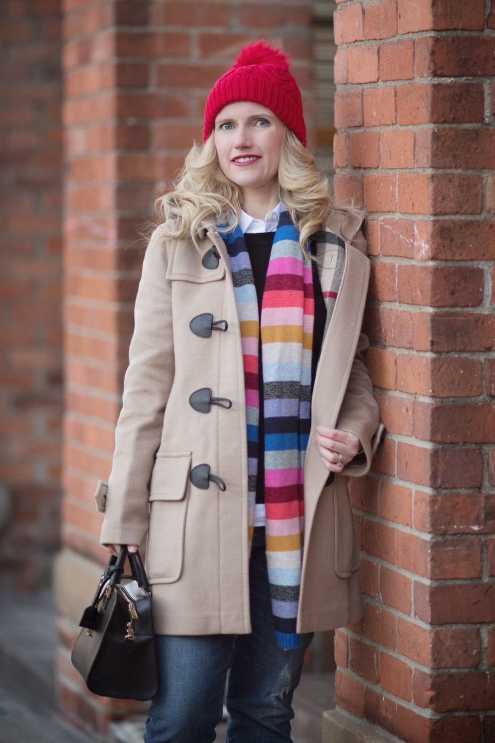 Petite Fashion Blog | Burberry Brit Toggle Coat