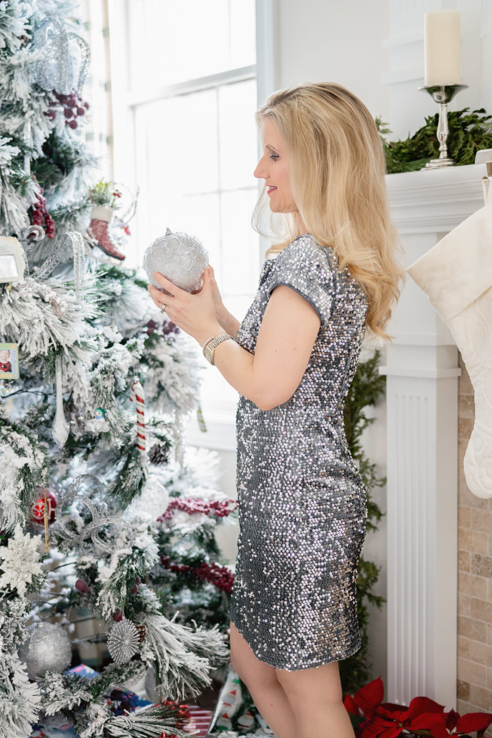 Petite Fashion Blog | Holiday Gifts Under $50 | Holiday Gifts Under $100 | Sequin Dress | Eliza J Sequin Dress