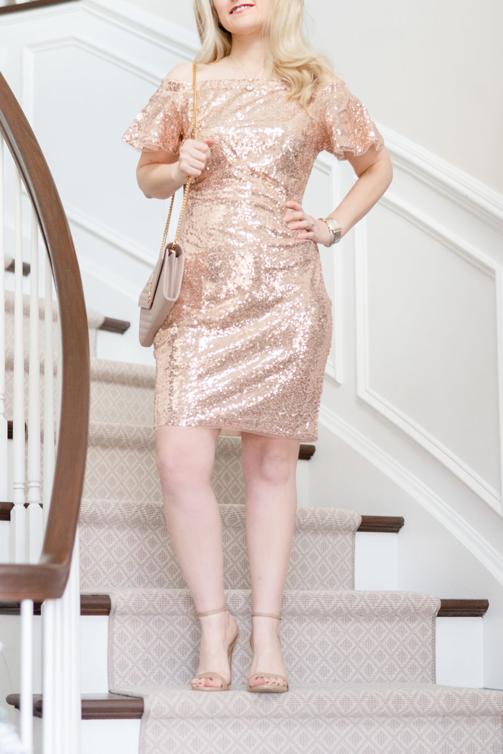 Petite Fashion Blog | Grace Karin Sequin Dress