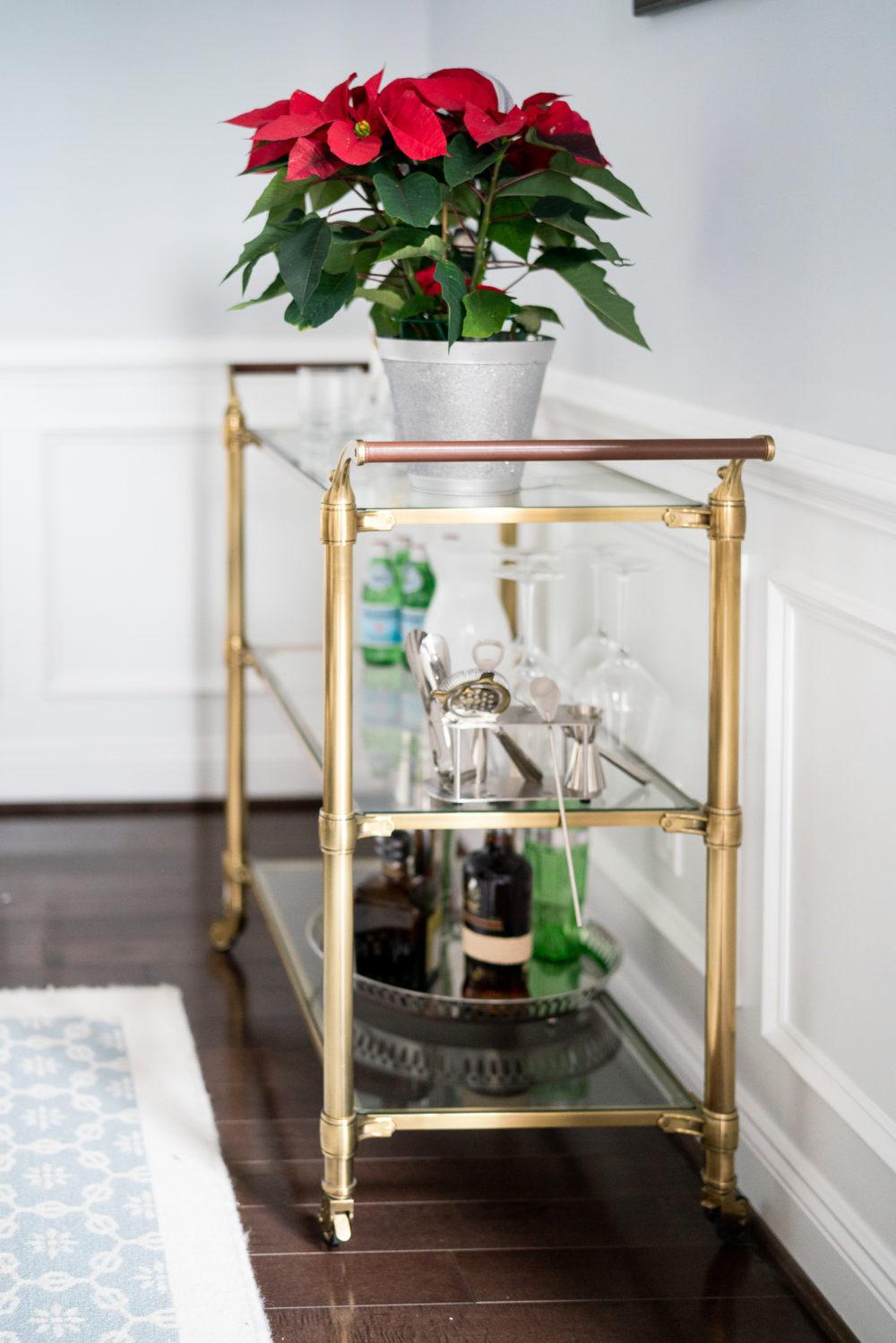 Petite Fashion Blog | Our Home for the Holidays | Christmas Decor | Flocked Christmas Tree |