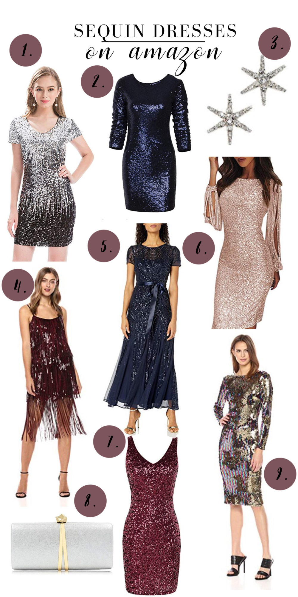 Petite Fashion Blog | Sequin Dresses on Amazon | Sequin Dresses | Dress the Population Dresses