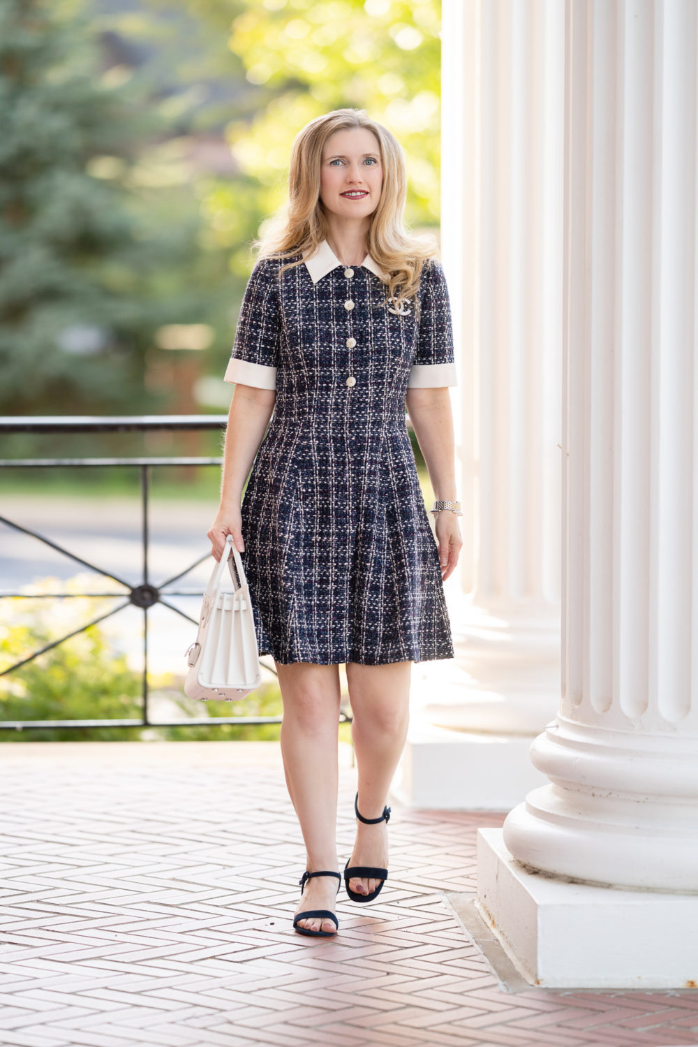 Petite Fashion Blog | Gal Meets Glam Tweed Dress