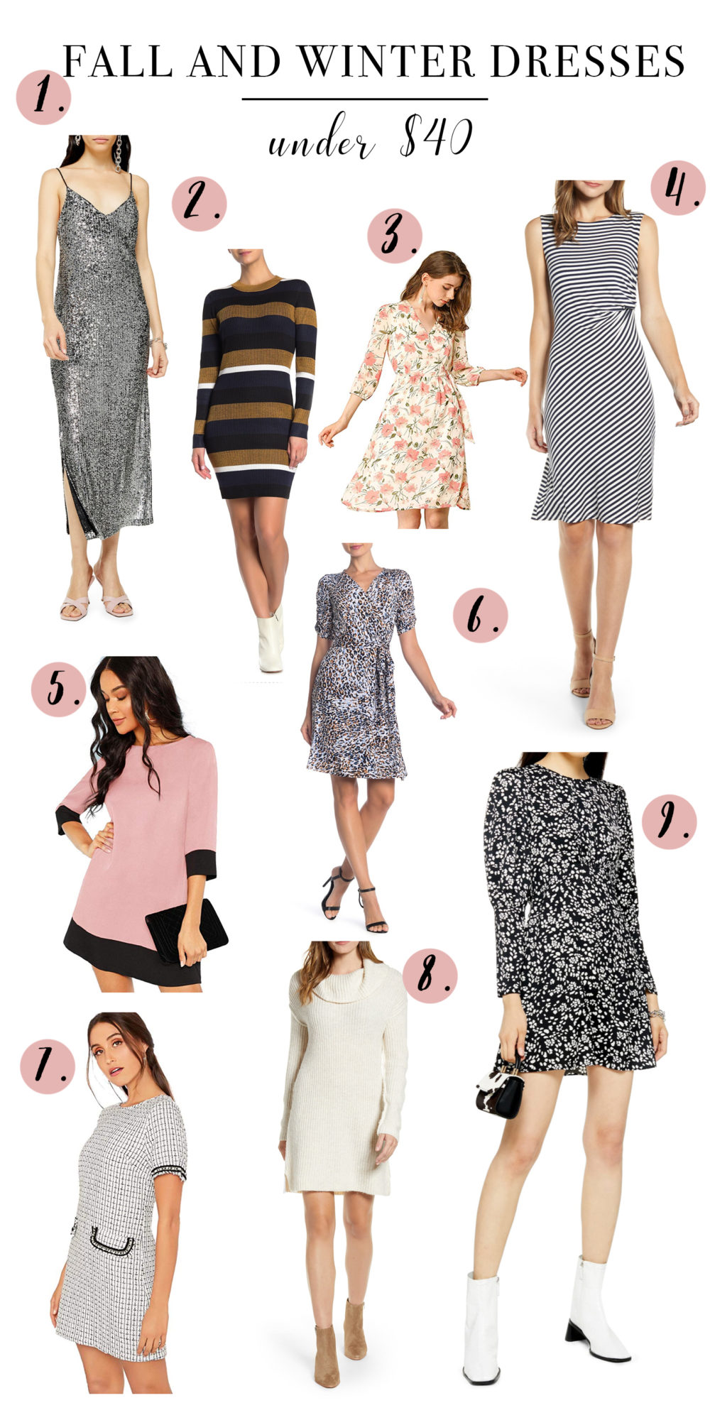 Fall and Winter Dresses Under $40