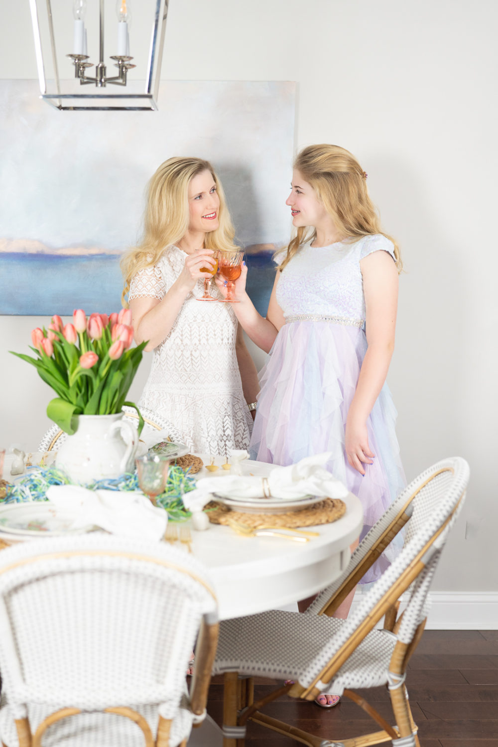 Petite Fashion Blog | Easter Tea Party | Pottery Barn Easter Dinnerware | Easter Basket Gift Ideas