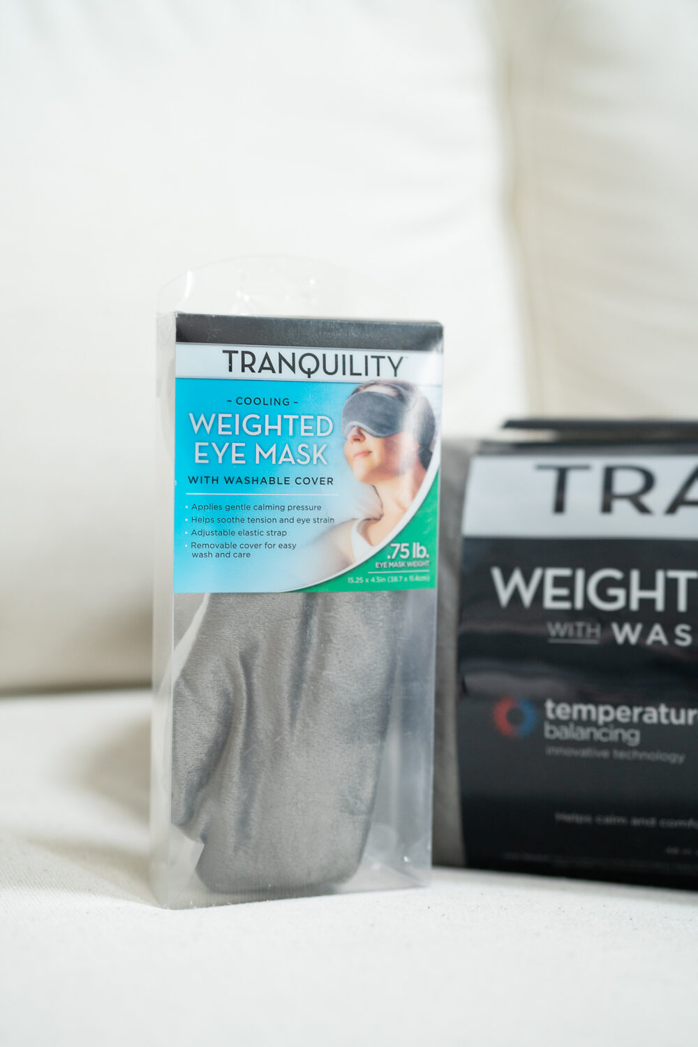 Petite Fashion and Style Blog | Tranquility Weighted Blanket | Tranquility Weighted Eye Mask